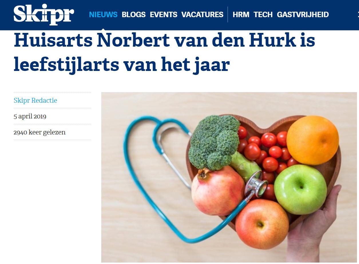 Leefstijlarts van het jaar 2019: Norbert van den Hurk