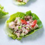 Sla-wraps met tonijn en komkommer